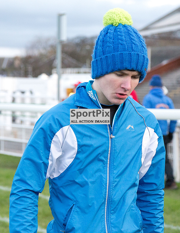 146th New Year Sprint 31 December 2014; Leon Ali before his Open 90 meter final at Musselburgh Racecourse, Musselburgh;
