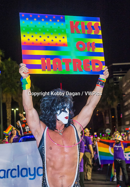 participant at the annual Las Vegas Gay pride parade