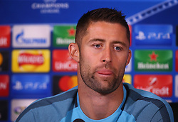 September 11, 2017 - Cobham, United Kingdom - Chelsea's Gary Cahill  during a press conference at Cobham Training Ground on 10September 2017 in Cobham, England. (Credit Image: © Kieran Galvin/NurPhoto via ZUMA Press)