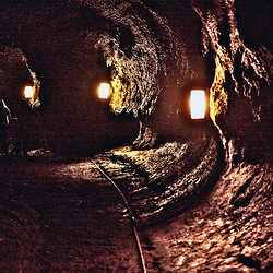 Inside Nahuku, the Thurston Lava Tube, Hawaii Volcanoes National Park.