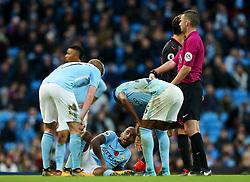 Fabian Delph of Manchester City picks up an injury - Mandatory by-line: Matt McNulty/JMP - 05/11/2017 - FOOTBALL - Etihad Stadium - Manchester, England - Manchester City v Arsenal - Premier League