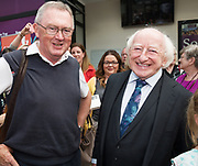 21/07/2018 repro free: President Michael D. Higgins  at the First Thought Talks strand at Galway International Arts Festival on Saturday July 21 in the Bailey Allen Hall in NUI Galway. The President launched this year&rsquo;s talks series with a reflection on the theme of home, which is the main theme of the talks. <br /> Afterwards he was greeted by hundreds of well wishers and Sean O Rourke RTE.<br /> The First Thought Talks programme at GIAF features a series of interviews, conversations and debate which will examine the theme of home, curated by historian and archivist Catriona Crowe. First Thought Talks 2018 features 18 talks from academics, activists, architects, reporters, poets and writers with 43 participants including President Michael D. Higgins, Catherine Corless, Andrew O&rsquo;Hagan, John Lanchester, Sarah Hickson, Liz Fekete, Roy Foster, Tomi Reichental, Mitchell Joachim, Paula Meehan, Lucy McDiarmid and Diarmuid Ferriter amongst an extensive number of leading international voices and journalists from around the world. For more see www.giaf.ie<br /> Pictures: Andrew Downes/Xposure