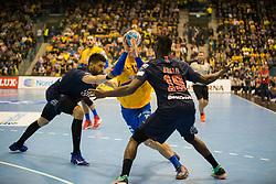 Rok Ovnicek during handball match between RK Celje Pivovarna Lasko (SLO) and Paris Saint-Germain HB (FRA) in VELUX EHF Champions League 2018/19, on February 24, 2019 in Arena Zlatorog, Celje, Slovenia. Photo by Peter Podobnik / Sportida
