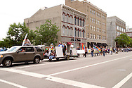 The parade heads for Courthouse Square during the annual Dayton Pride Parade and Festival in downtown Dayton, Saturday, June 2, 2012.