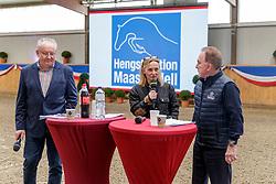 Moderationsteam Claus Schriddee, Martina Brüske, Herbert Ulonska<br /> Klein Offenseth - Hengstschau Stall Hell 2020<br /> © www.sportfotos-lafrentz.de/Stefan Lafrentz