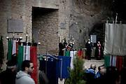 ROMA. UN MOMENTO DELLA CERIMONIA COMMEMORATIVA DELL'ECCIDIO DELLE FOSSE ARDEATINE DOVE VENGONO LETTI I 335 NOMI DEI MARTIRI UCCISI IL 24 MARZO DEL 1944 DA TRUPPE NAZISTE.