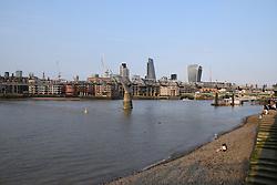 Millennium Bridge & City of London, UK August 2016
