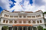 Entrance to the Raffles Hotel, Singapore, Republic of Singapore