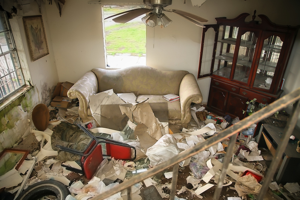 Jan. 6, 2008, Chalmette, LA, Housing project left in ruin after Hurricane Katrina.