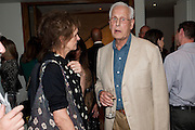 KATE FAHEY; MICHAEL BLAKEMORE, The opening night of Broken Glass at the Vaudeville Theatre. Followed by  the after show party is at One Aldwych. London. 16 September 2011. <br />  , -DO NOT ARCHIVE-© Copyright Photograph by Dafydd Jones. 248 Clapham Rd. London SW9 0PZ. Tel 0207 820 0771. www.dafjones.com.