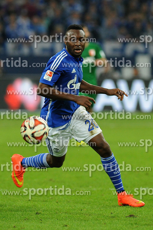 31.10.2014, Veltins Arena, Gelsenkirchen, GER, 1. FBL, Schalke 04 vs FC Augsburg, 10. Runde, im Bild Chinedu Obasi ( Schalke 04 ) // during the German Bundesliga 10th round match between Schalke 04 and FC Augsburg at the Veltins Arena in Gelsenkirchen, Germany on 2014/10/31. EXPA Pictures &copy; 2014, PhotoCredit: EXPA/ Eibner-Pressefoto/ Thienel<br /> <br /> *****ATTENTION - OUT of GER*****