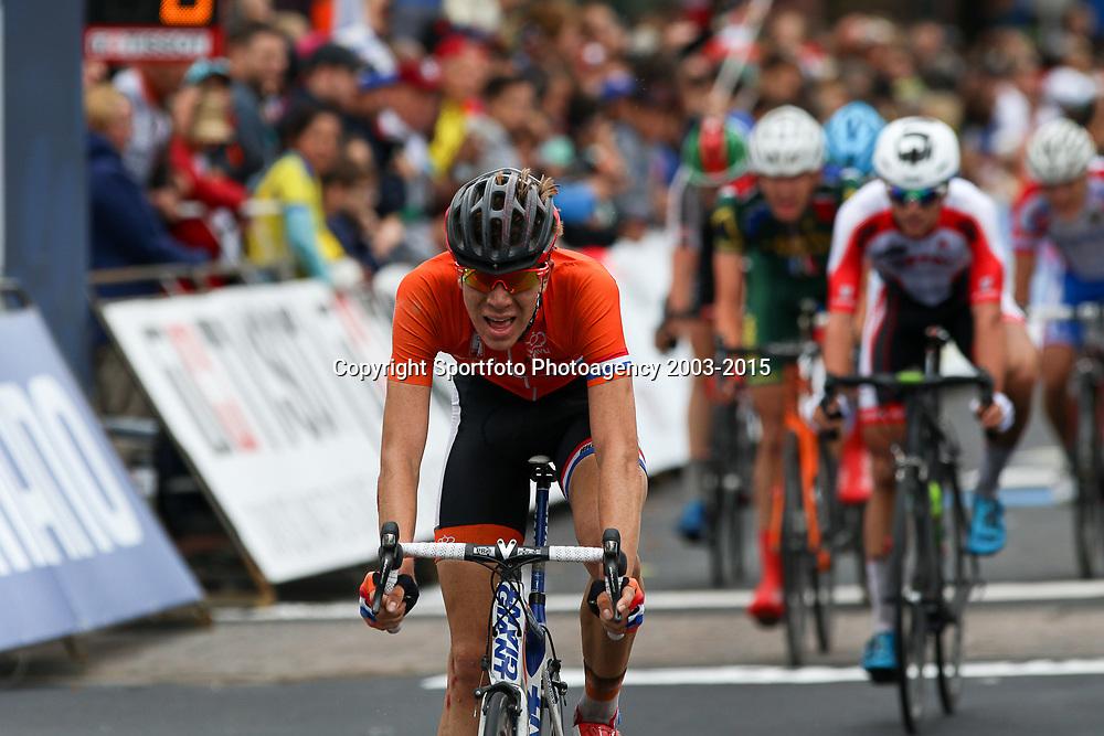 RICHMOND (USA) wielrennen<br /> Nils Eekhof was met een 24e plaats de eerste Nederlandse junior