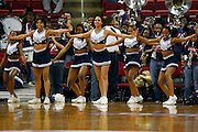 Howard University Cheerleaders perform during the 2006 MEAC Basketball Tournament held at the RBC Center in Raleigh, North Carolina.  03/08/06  (Photo by Mark W. Sutton)