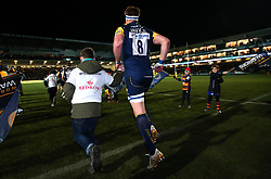 GJ van Velze of Worcester Warriors runs out to face London Irish  - Mandatory by-line: Robbie Stephenson/JMP - 22/12/2017 - RUGBY - Sixways Stadium - Worcester, England - Worcester Warriors v London Irish - Aviva Premiership