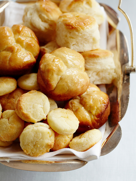 Cloverleaf Yeast Rolls, Sweet Potato Biscuits, .  Around The Southern Table Cookbook by Rebecca Lang