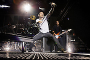 Linkin Park performs at Projekt Revolution at Verizon Wireless Ampitheater in St. Louis, MO on August 21, 2008. © Christopher Owyoung / Retna Ltd.
