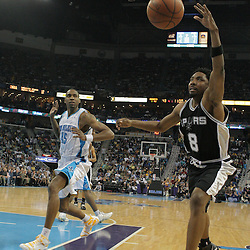 29 March 2009: San Antonio Spurs guard Roger Mason (8) attempts to save the ball from going out of bound during a 90-86 victory by the New Orleans Hornets over Southwestern Division rivals the San Antonio Spurs at the New Orleans Arena in New Orleans, Louisiana.