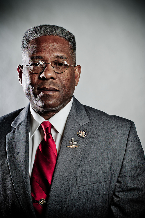 Rep. Allen West (R-FL) poses for a portrait in his office on Tuesday, Feb. 7th, 2012 in Washington. (Photo by Jay Westcott/Politico)