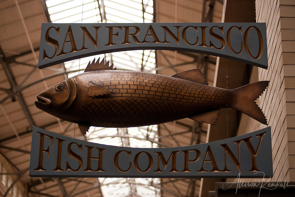 An artful sign in the Ferry Building Marketplace of San Francisco