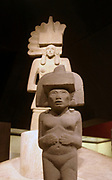 Stone sculpture of Huaxtec female deities.  900-1400 AD, Mexico. Pre-Columbian Mesoamerican Mythology
