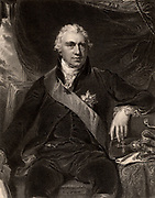 Joseph Banks (1743-1820) English botanist and plant collector; sailed with James Cook on 'Endeavour' 1768-1871; President of Royal Society for 41 years from 1778; engraving after portrait by Thomas Lawrence.