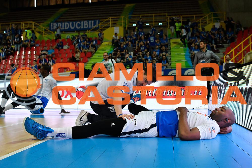 landry<br /> pregame<br /> Germani Basket Brescia - Openjobmetis Varese<br /> Legabasket Serie A 2017/18  gara 1<br /> Verona, 12/05/2018<br /> Foto G.Checchi / Ciamillo-Castoria