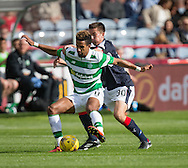 Celtic&rsquo;s Scott Sinclair and Dundee&rsquo;s Cammy Kerr - Dundee v Celtic in the Ladbrokes Scottish Premiership at Dens Park, Dundee. Photo: David Young<br /> <br />  - &copy; David Young - www.davidyoungphoto.co.uk - email: davidyoungphoto@gmail.com