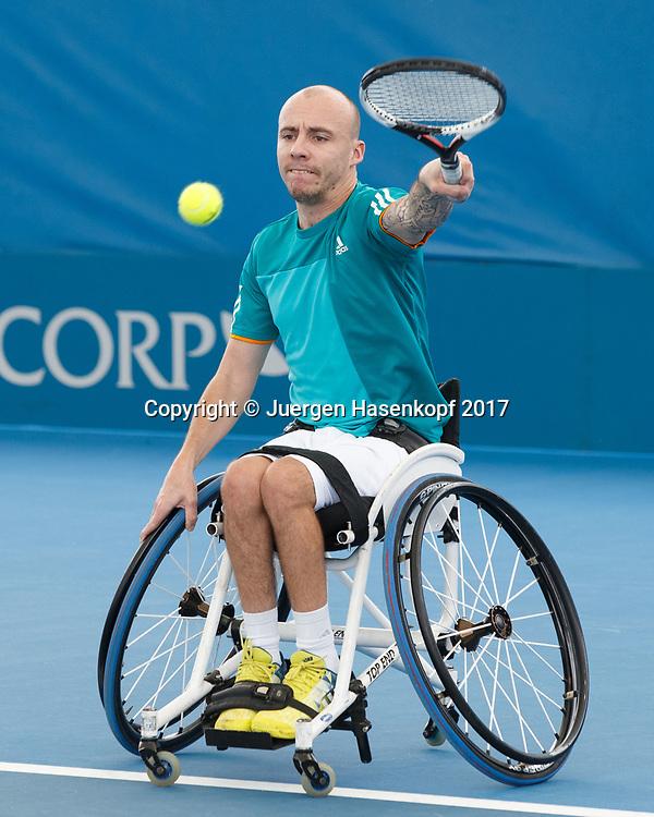 ANDY LAPTHORNE (GBR), Rollstuhl Tennis<br /> <br /> Tennis - Brisbane International  2017 - ITF -  Pat Rafter Arena - Brisbane - QLD - Australia  - 6 January 2017. <br /> &copy; Juergen Hasenkopf