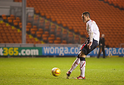 BLACKPOOL, ENGLAND - Wednesday, December 18, 2013: Liverpool's Lloyd Jones scores the first penalty in the shoot-out against Blackpool during the FA Youth Cup 3rd Round match at Bloomfield Road. (Pic by David Rawcliffe/Propaganda)