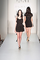 A Model walks the runway wearing GenArt Spring 2010 during Mercedes-Benz Fashion Week in New York, NY on September 11, 2009