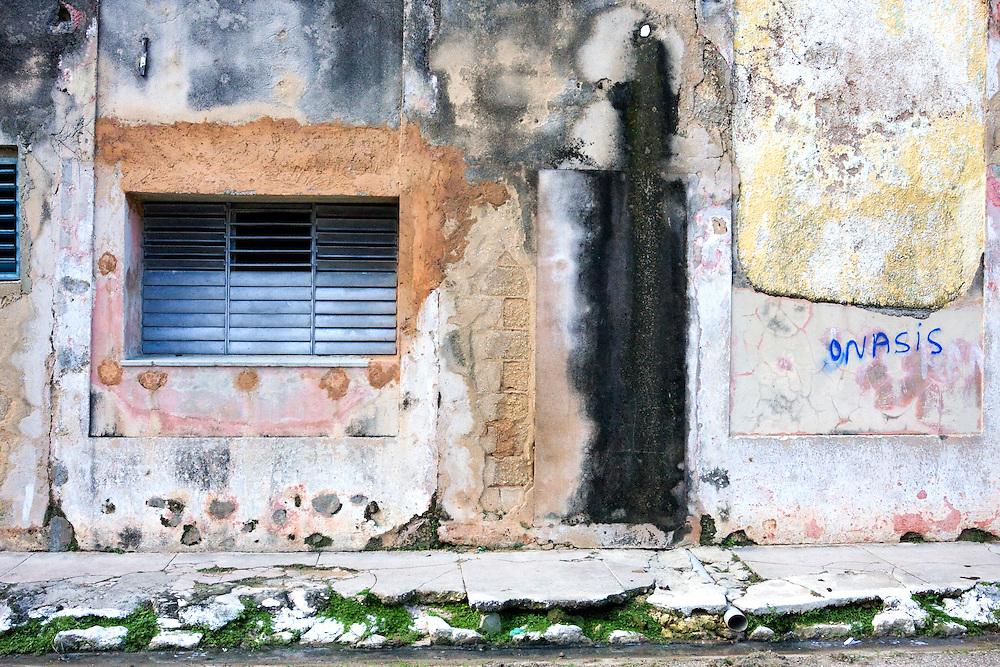 Weathered wall in Cardenas, Matanzas, Cuba.