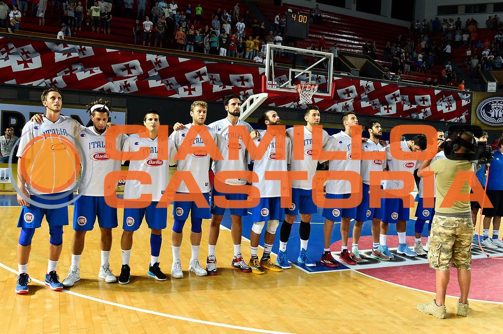 DESCRIZIONE : Tbilisi Nazionale Italia Uomini Tbilisi City Hall Cup Italia Italy Georgia Georgia<br /> GIOCATORE : team<br /> CATEGORIA : pregame before presentazione<br /> SQUADRA : Italia Italy<br /> EVENTO : Tbilisi City Hall Cup<br /> GARA : Italia Italy Georgia Georgia<br /> DATA : 16/08/2015<br /> SPORT : Pallacanestro<br /> AUTORE : Agenzia Ciamillo-Castoria/GiulioCiamillo<br /> Galleria : FIP Nazionali 2015<br /> Fotonotizia : Tbilisi Nazionale Italia Uomini Tbilisi City Hall Cup Italia Italy Georgia Georgia