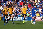AFC Wimbledon attacker Adam Roscrow (10) dribbling during the EFL Sky Bet League 1 match between AFC Wimbledon and Bristol Rovers at the Cherry Red Records Stadium, Kingston, England on 21 September 2019.