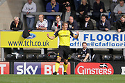 Burton Albion defender Stephen Warnock (3) scores a goal to make the score 1-0 and celebrates during the EFL Sky Bet Championship match between Burton Albion and Fulham at the Pirelli Stadium, Burton upon Trent, England on 16 September 2017. Photo by Richard Holmes.