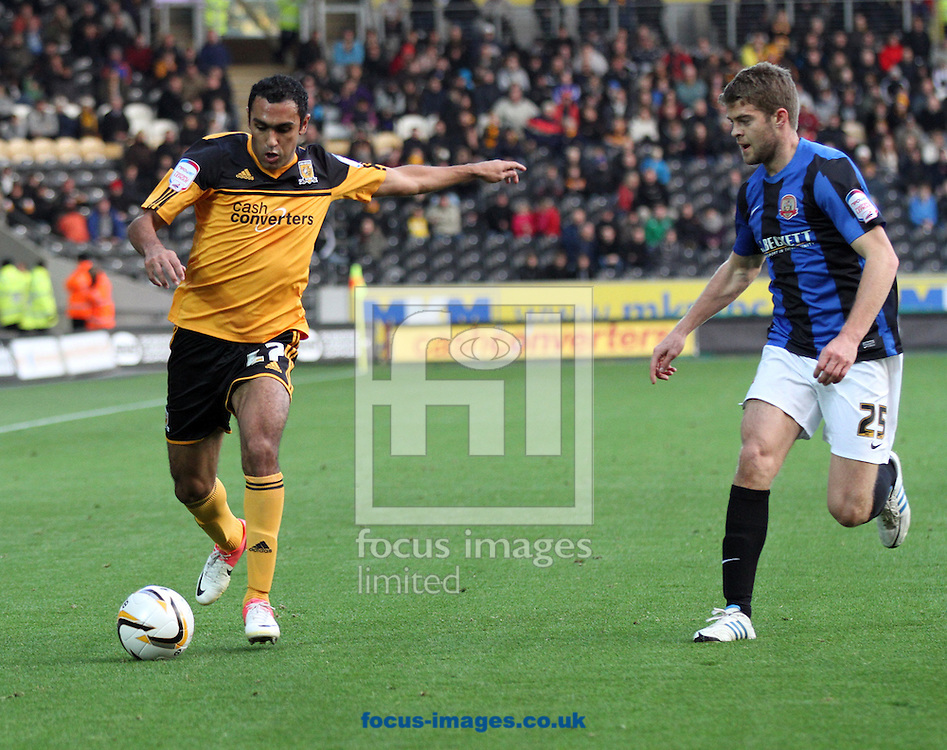 Picture by Richard Gould/Focus Images Ltd +44 7855 403186.03/11/2012.Ahmed Elmohamady of Hull City in action during the npower Championship match at the KC Stadium, Kingston upon Hull.