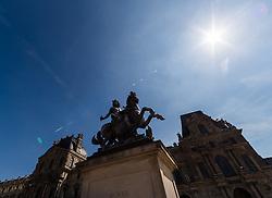 09.06.2016, Paris, FRA, UEFA Euro, Frankreich, Vorberichte, im Bild Statue von Louis XIV am Louvre Museum // Statue of Louis XIV at the Louvre Museum during preperation for the UEFA EURO 2016 France. Paris, France on 2016/06/09. EXPA Pictures © 2016, PhotoCredit: EXPA/ JFK