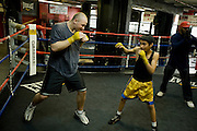 Gleason's Gym, Dumbo, Brooklyn, New York.Golden Glove Boxer Adam Kownacky (20) 235 pounds...