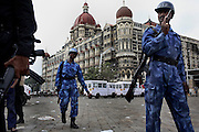 On saturday hours after the Seige at the Taj Mahal hotel ended.