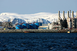 NORWAY HAMMERFEST 24MAR07 - Gas plant on Melkoya island near Hammerfest, the world's most northerly town...jre/Photo by Jiri Rezac..© Jiri Rezac 2007..Contact: +44 (0) 7050 110 417.Mobile:  +44 (0) 7801 337 683.Office:  +44 (0) 20 8968 9635..Email:   jiri@jirirezac.com.Web:    www.jirirezac.com..© All images Jiri Rezac 2007 - All rights reserved.