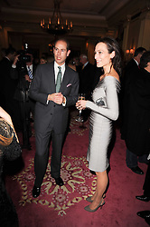 HRH THE EARL OF WESSEX and LADY NUTTAL at a reception hosted by Films Without Borders at the Lanesborough Hotel, Hyde Park Corner, London on 27th October 2010.