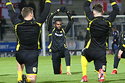 Burton Albion's new loan signing Darren Bent warms up during the EFL Sky Bet Championship match between Burton Albion and Reading at the Pirelli Stadium, Burton upon Trent, England on 30 January 2018. Photo by John Potts.