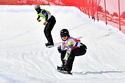 TUDHOPE Ben, SB-LL2, AUS, GEROS Garrett, USA, Snowboard Cross at the WPSB_2019 Para Snowboard World Cup, La Molina, Spain