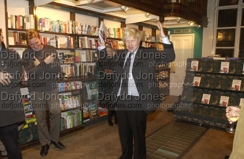 Boris Johnson,  Book party for 'The Dream of Rome' by Boris Johnson. Daunts bookshop. Marylebone High St. London.  1 February 2006. -DO NOT ARCHIVE-© Copyright Photograph by Dafydd Jones 66 Stockwell Park Rd. London SW9 0DA Tel 020 7733 0108 www.dafjones.com