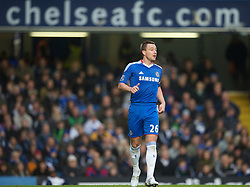 LONDON, ENGLAND - Saturday, December 4, 2010: Chelsea's captain John Terry in action against Everton during the Premiership match at Stamford Bridge. (Pic by: David Rawcliffe/Propaganda)