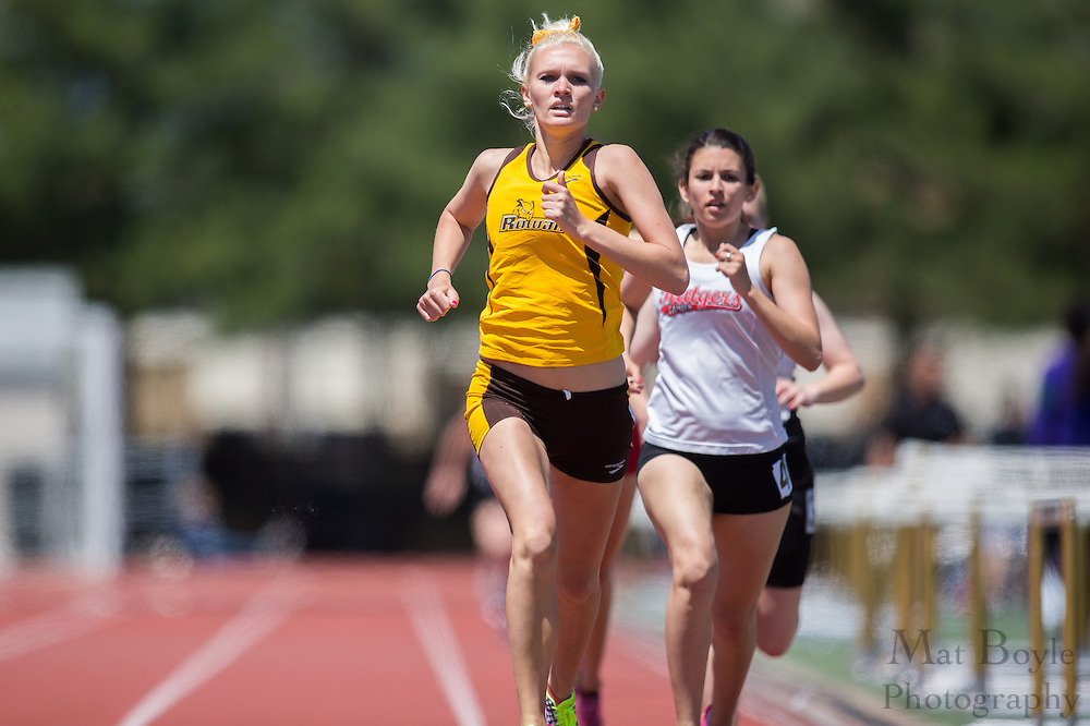 Rowan University's Lisa Leszcynski competes in the women's 800 meter at the NJAC Track and Field Championships at Richard Wacker Stadium on the campus of  Rowan University  in Glassboro, NJ on Sunday May 5, 2013. (photo / Mat Boyle)