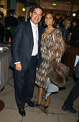 JESUS ADORNO Director & Maitre d' of Le Caprice and DIVIA LALVANI at a party to celebrate the publication of Soup Kitchen by Annabel Buckingham and Thomasina Miers held at Eat. Royal Festival Hall, London SE1 on 1st November 2005.<br />