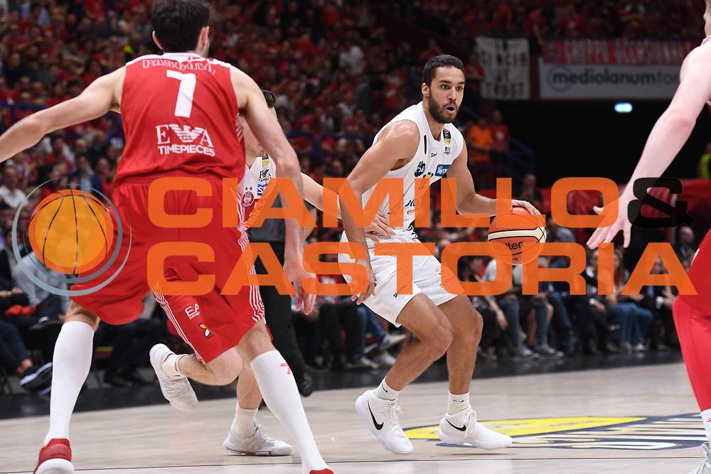 Yannick Franke<br /> EA7 Emporio Armani Olimpia Milano - Dolomiti Energia Trentino<br /> Playoff - Finale - Gara 1<br /> LegaBasket Serie A 2017/2018<br /> Milano, 05/06/2018<br /> Foto M.Ceretti / Ciamillo-Castoria
