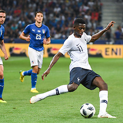 Ousmane Dembele of France during the International Friendly match between France and Italy at Allianz Riviera Stadium on June 1, 2018 in Nice, France. (Photo by Anthony Dibon/Icon Sport)