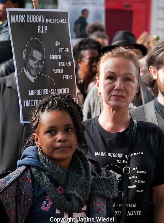 Carol Duggan aunt of Mark Duggan killed by police in Tottenham at Annual Rally in memory of those killed  in Custody