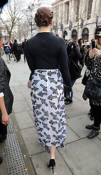 Daisy Lowe at the Christopher Kane show at London Fashion Week A/W 14, Monday, 17th February 2014. Picture by Stephen Lock / i-Images
